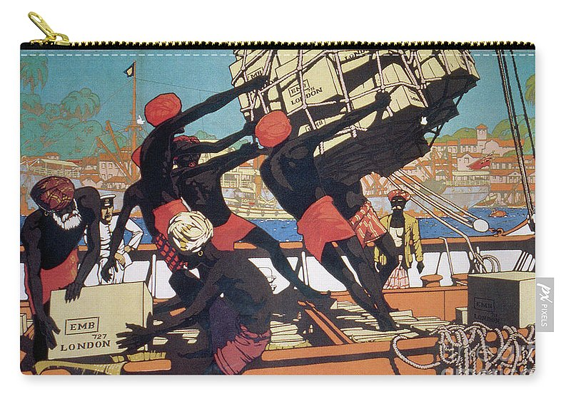 1928 Carry-all Pouch featuring the drawing Ceylonese Dockworkers by Granger