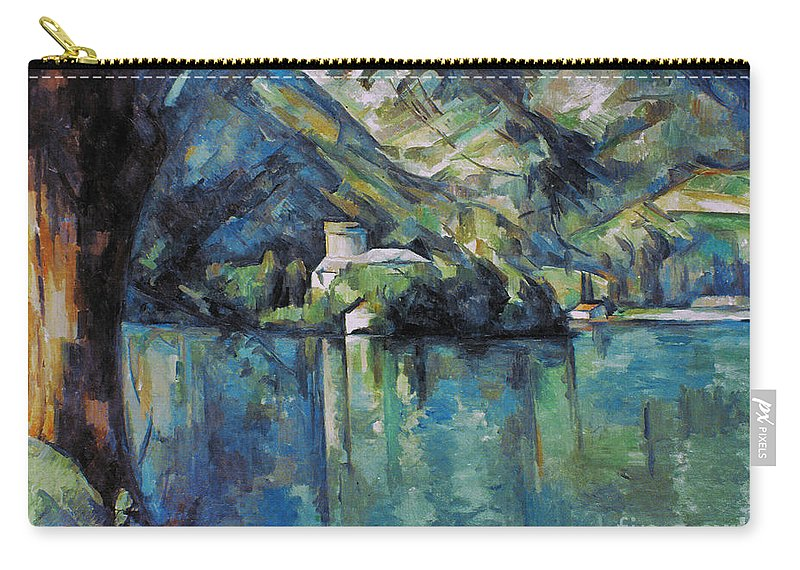 1896 Carry-all Pouch featuring the photograph Cezanne: Annecy Lake, 1896 by Granger