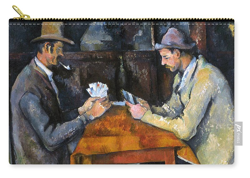 Aod Carry-all Pouch featuring the photograph Cezanne: Card Player, C1892 by Granger