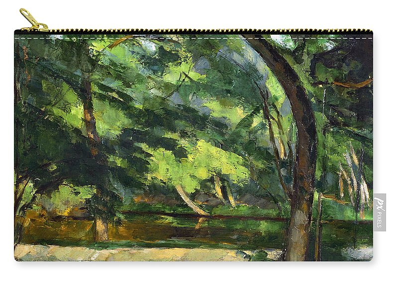 1877 Carry-all Pouch featuring the photograph Cezanne: Etang, 1877 by Granger