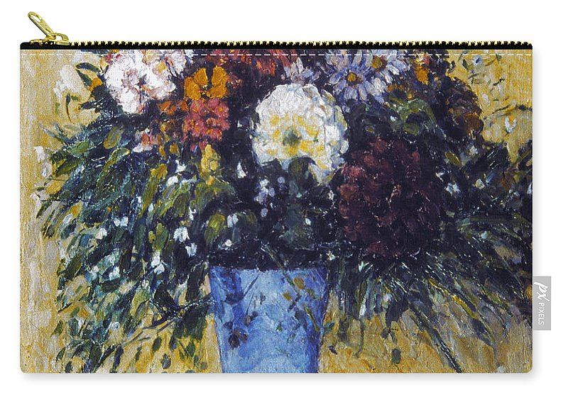 1875 Carry-all Pouch featuring the photograph Cezanne: Flowers, 1873-75 by Granger