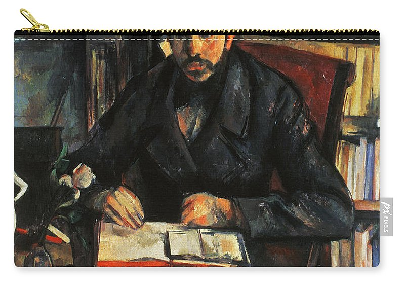 1896 Carry-all Pouch featuring the photograph Cezanne: Geffroy, 1895-96 by Granger