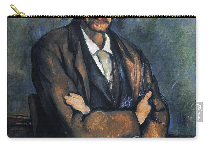 1899 Carry-all Pouch featuring the photograph Cezanne: Man, C1899 by Granger