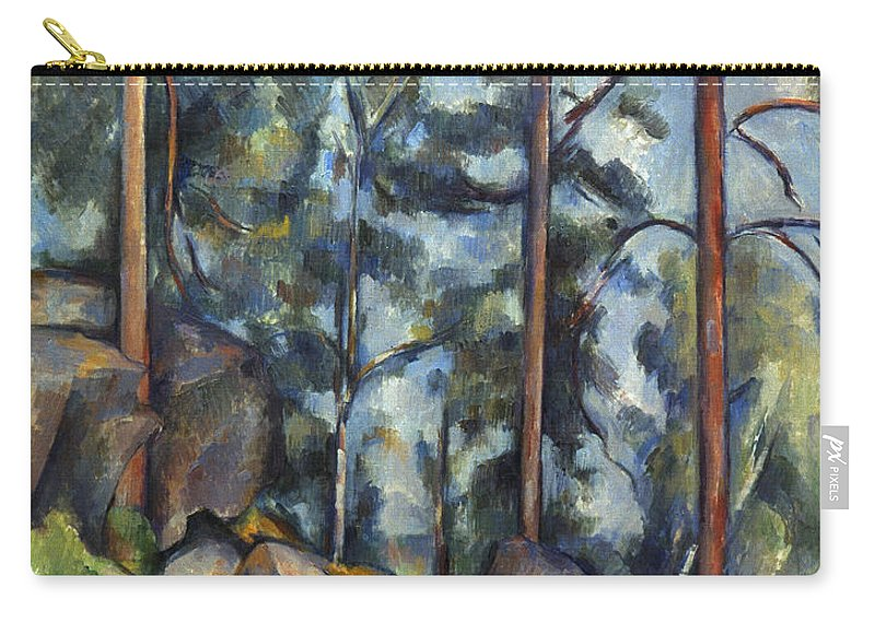 1899 Carry-all Pouch featuring the photograph Cezanne: Pines, 1896-99 by Granger