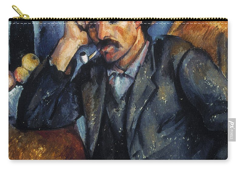 1900 Carry-all Pouch featuring the photograph Cezanne: Pipe Smoker, 1900 by Granger