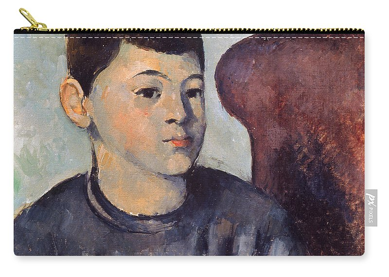 19th Century Carry-all Pouch featuring the photograph Cezanne: Portrait Of Son by Granger