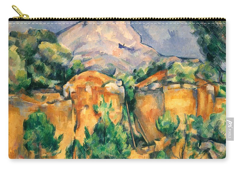 1898 Carry-all Pouch featuring the photograph Cezanne: Sainte-victoire by Granger