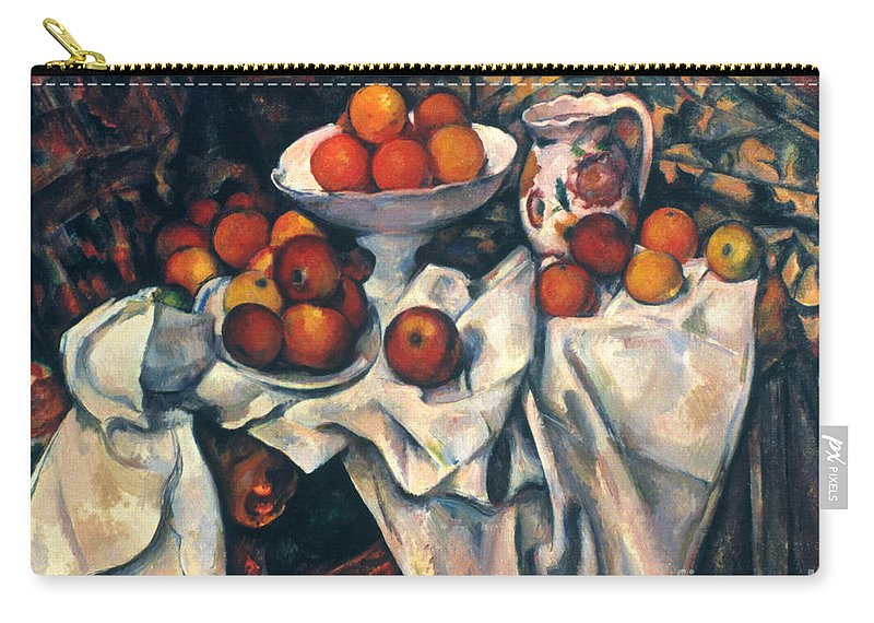 1890s Carry-all Pouch featuring the photograph Cezanne: Still Life, C1899 by Granger
