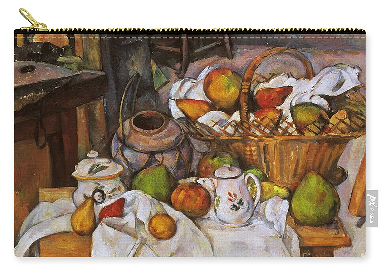 1890 Carry-all Pouch featuring the photograph Cezanne: Table, 1888-90 by Granger