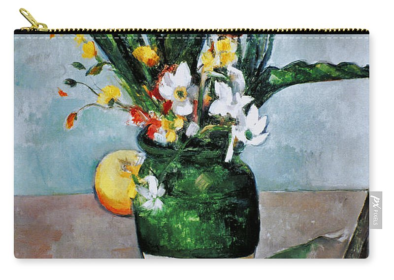 1892 Carry-all Pouch featuring the photograph Cezanne: Tulips, 1890-92 by Granger