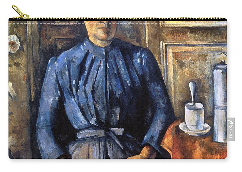 1895 Carry-all Pouch featuring the photograph Cezanne: Woman, 1890-95 by Granger