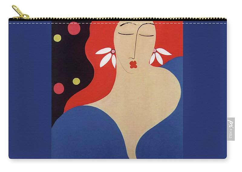 #female Carry-all Pouch featuring the painting Cha Cha by Jacquelinemari