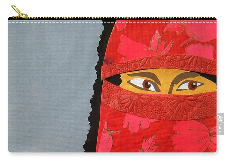 Woman Carry-all Pouch featuring the mixed media Chador by Debra Bretton Robinson