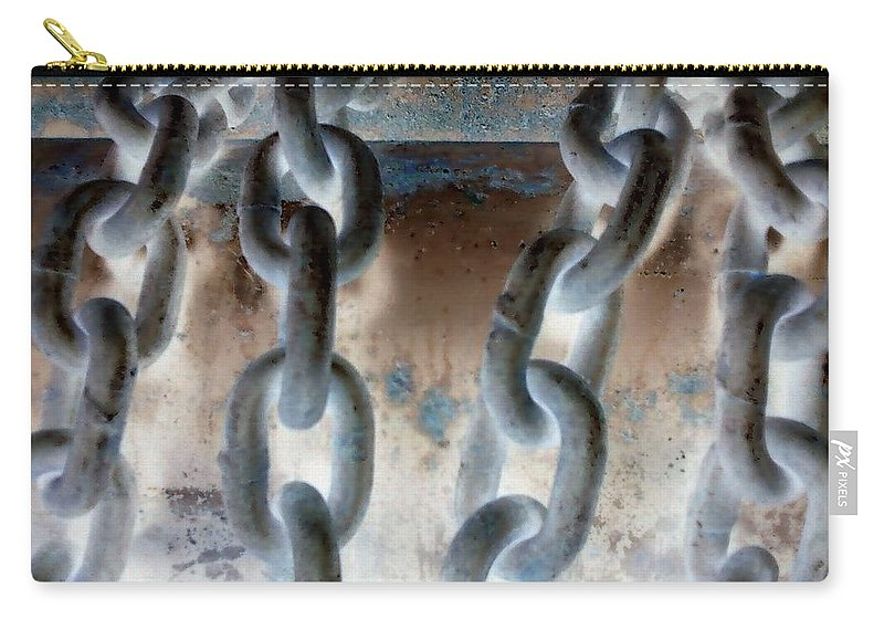 Chains Carry-all Pouch featuring the photograph Chains - Nagative by Cindy New