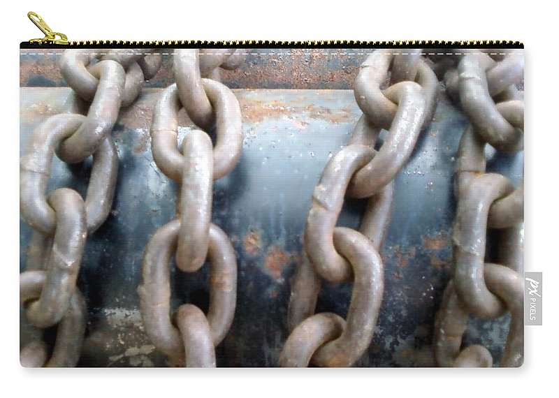 Chains Carry-all Pouch featuring the photograph Chains by Cindy New