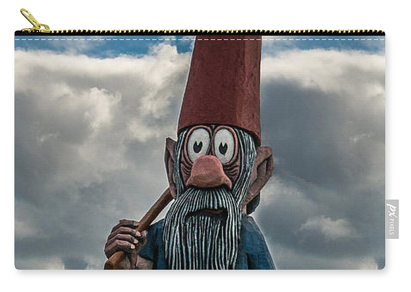 Gnome Carry-all Pouch featuring the photograph Chainsaw Art Gnome by Paul Freidlund