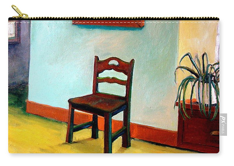 Apartment Carry-all Pouch featuring the painting Chair And Pears Interior by Michelle Calkins