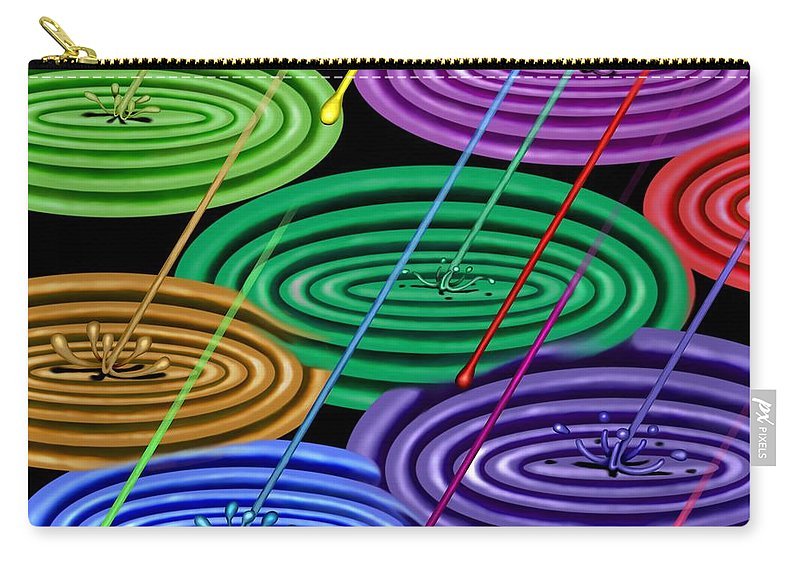 Surrealism Carry-all Pouch featuring the digital art Chakra Shower I by Robert Morin