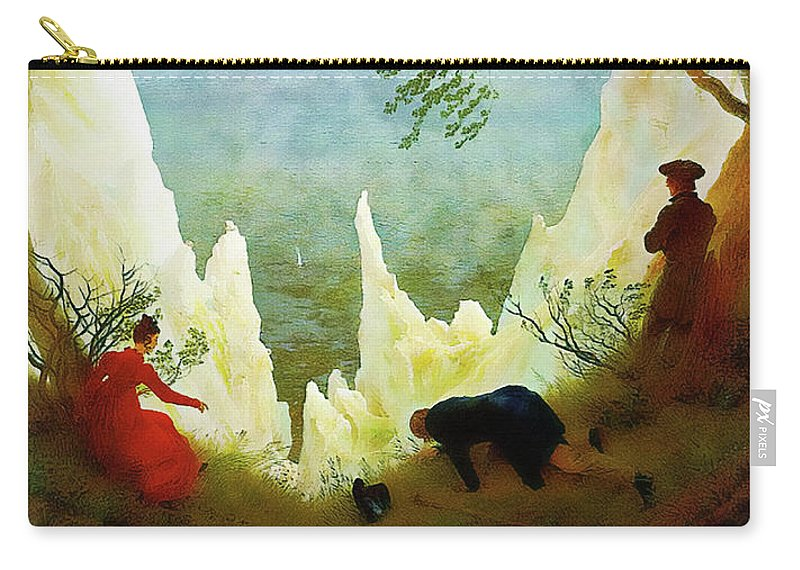 Landscape Carry-all Pouch featuring the painting Chalk Cliffs On Rugen by Media Impasto Paper