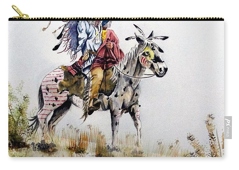 American Carry-all Pouch featuring the painting Challenge by Jimmy Smith