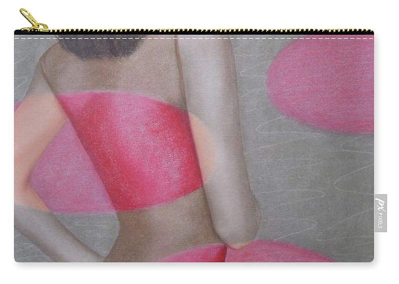 Woman Carry-all Pouch featuring the painting Chameleon by Lynet McDonald