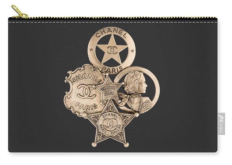 Chanel Carry-all Pouch featuring the painting Chanel Jewelry-16 by Nikita