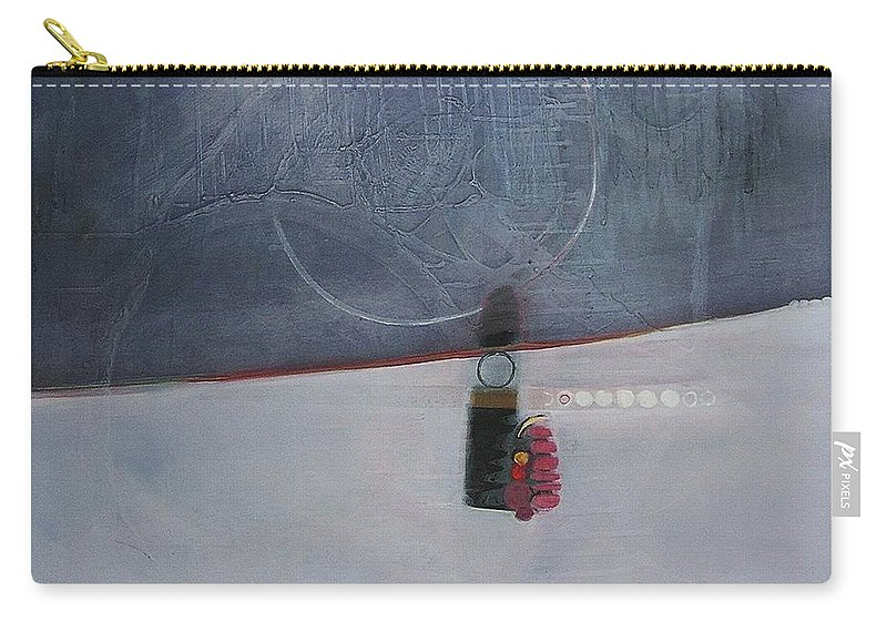 Abstract Carry-all Pouch featuring the painting Chanel Jump To Conclusions by Marlene Burns