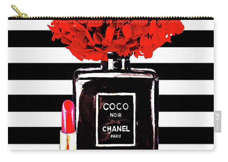 3420ef451768fe Chanel Poster Chanel Print Chanel Perfume Print Chanel With Red Hydragenia  3 Carry-all Pouch for Sale by Del Art