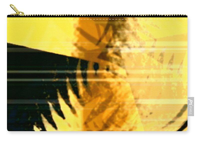 Art Digital Art Carry-all Pouch featuring the digital art Change - Leaf8 by Alex Porter