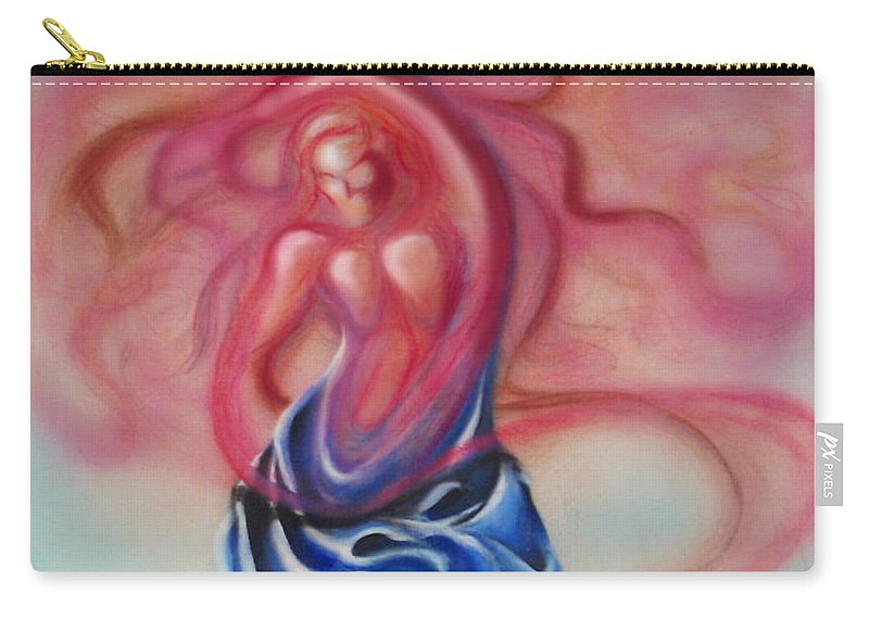 Female Carry-all Pouch featuring the painting Change by Kevin Middleton