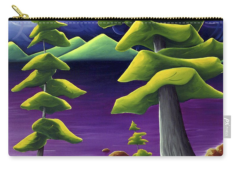 Landscape Carry-all Pouch featuring the painting Change Of Pace by Richard Hoedl