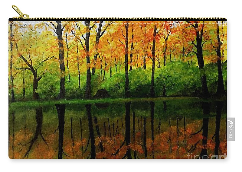 Reflections Carry-all Pouch featuring the painting Change Of Seasons by Jessie Lofland