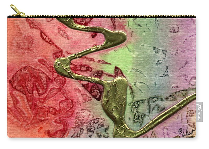 Abstract Carry-all Pouch featuring the mixed media Changes by Angela L Walker