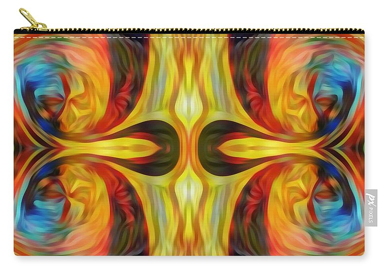 Carry-all Pouch featuring the mixed media Changing Still by Fania Simon