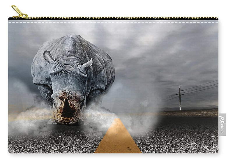 Chaos Artwork Photoshop Carry-all Pouch featuring the digital art Chaos by Alex Grichenko