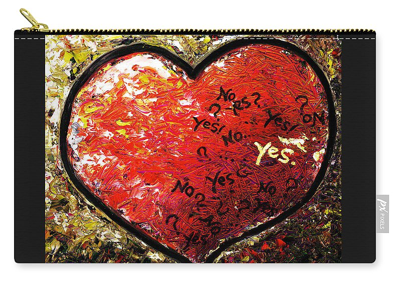 Pop Carry-all Pouch featuring the painting Chaos In Heart by Hiroko Sakai