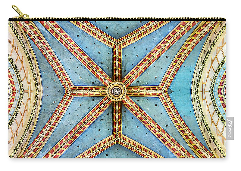 Architecture Carry-all Pouch featuring the photograph Chapel Ceiling by Maria Coulson