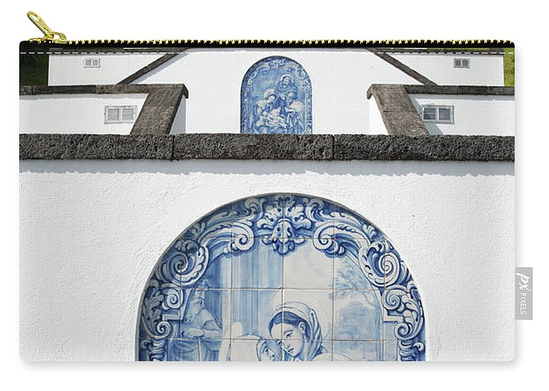 Azores Carry-all Pouch featuring the photograph Chapel In The Azores by Gaspar Avila