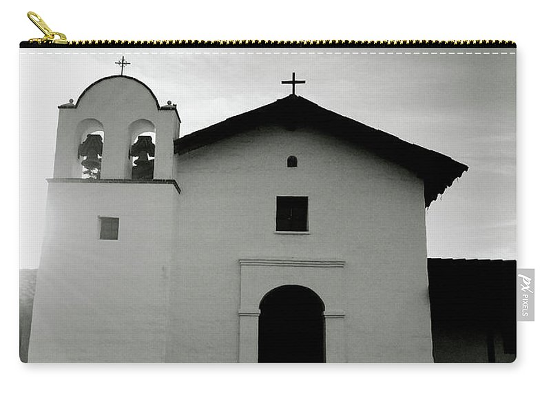 Black And White Carry-all Pouch featuring the photograph Chapel In The Shadows- Art By Linda Woods by Linda Woods