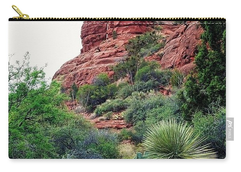Landscape Carry-all Pouch featuring the photograph Chapel Of The Holy Cross by Sharon Eng