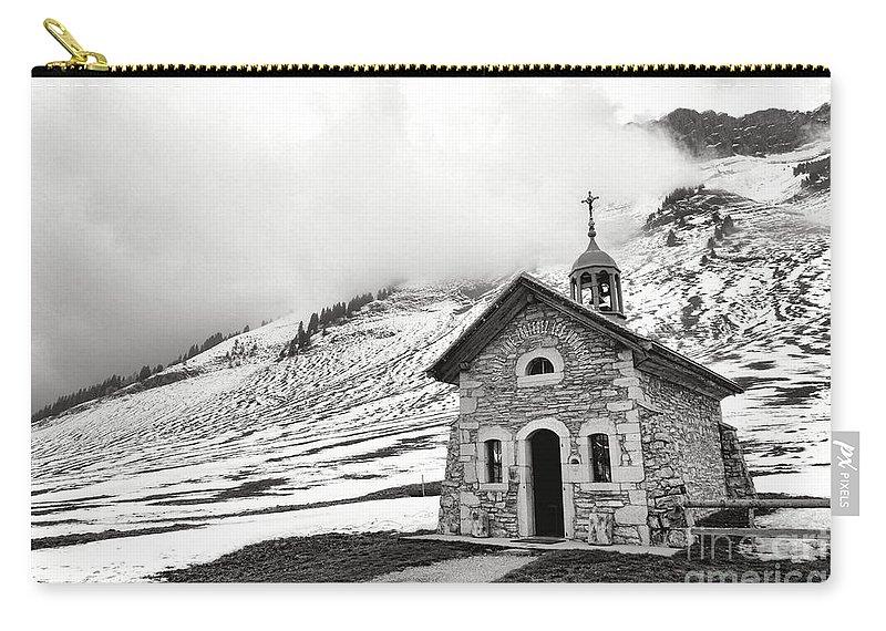 Chapelle Carry-all Pouch featuring the photograph Chapelle Des Aravis by Olivier Le Queinec