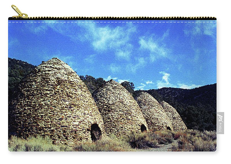 Wild Rose Canyon Carry-all Pouch featuring the photograph Charcoal Kilns by Jim And Emily Bush