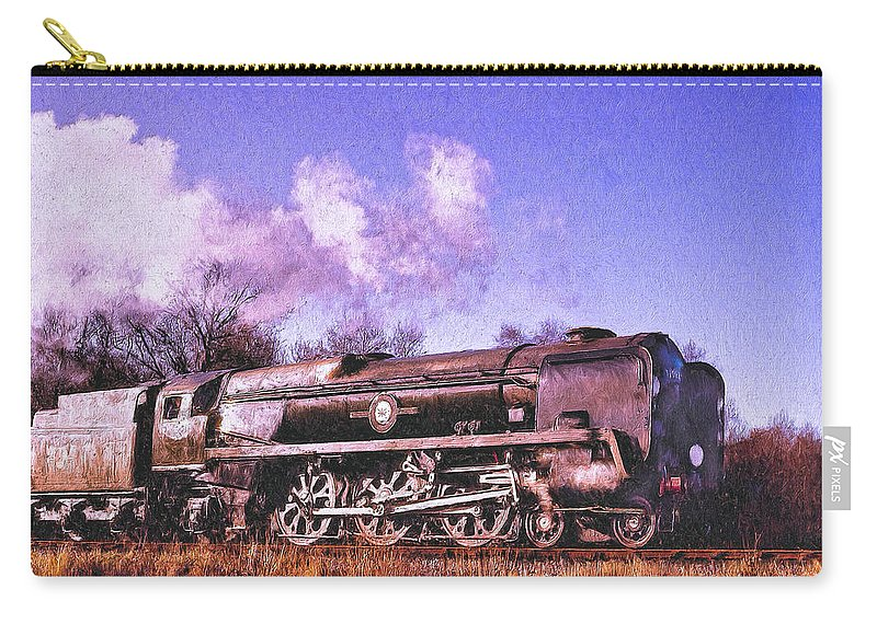 Railroad Carry-all Pouch featuring the painting Charger by Dominic Piperata