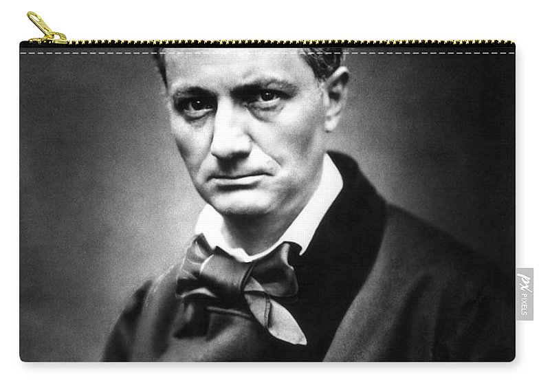1863 Carry-all Pouch featuring the photograph Charles Baudelaire by Granger