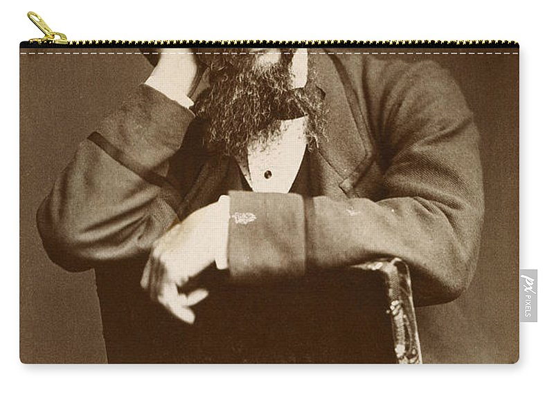 1860 Carry-all Pouch featuring the photograph Charles Dickens by Granger