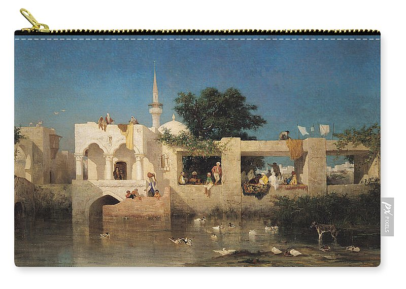 Cafe Carry-all Pouch featuring the painting Charles Emile De Tournemine by Cafe in Adalia