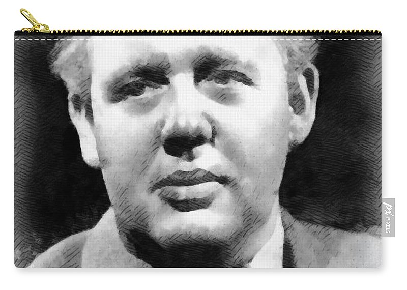 Charles Carry-all Pouch featuring the painting Charles Laughton Vintage Actor by Frank Falcon