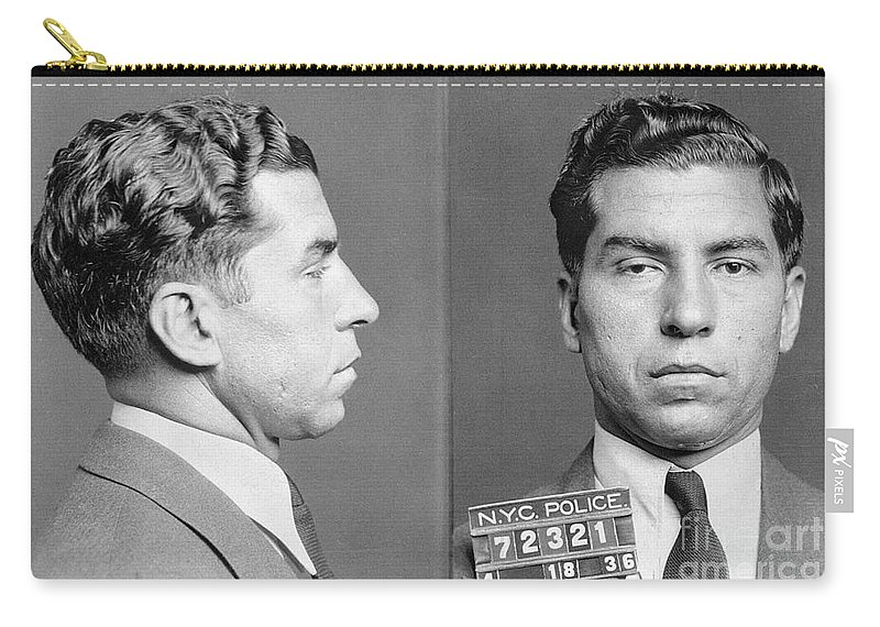 1936 Carry-all Pouch featuring the photograph Charles Lucky Luciano by Granger