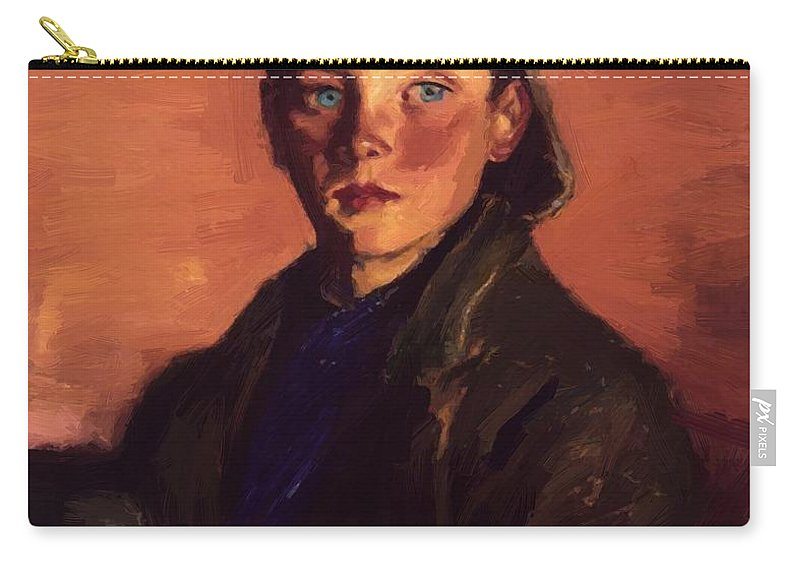 Charles Carry-all Pouch featuring the painting Charles O Malley 1927 by Henri Robert