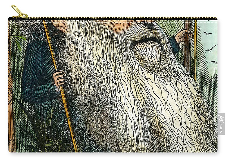 1872 Carry-all Pouch featuring the photograph Charles Robert Darwin by Granger